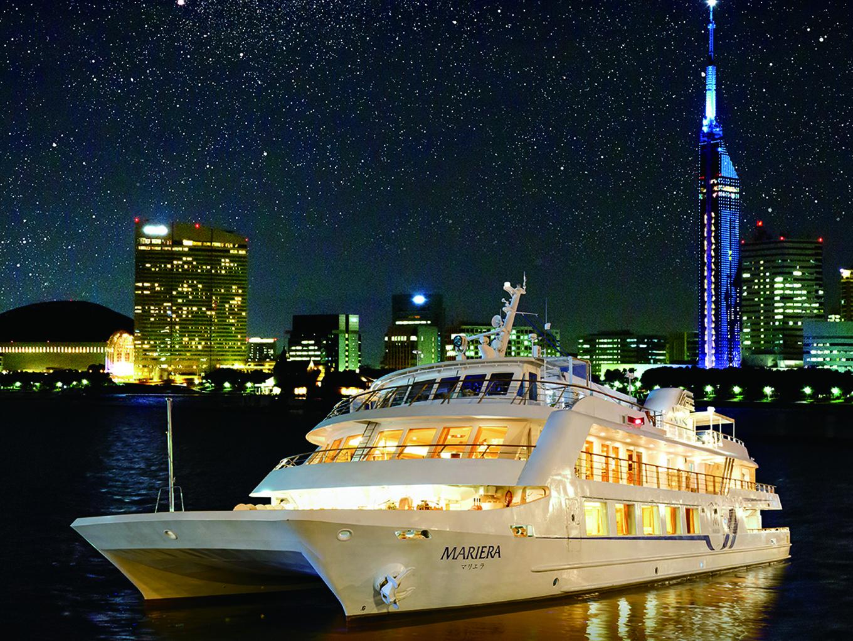 美しい博多湾の景色を船上で堪能!マリエラ「思い立ったら乗船PLAN」ご招待券 2組4名様