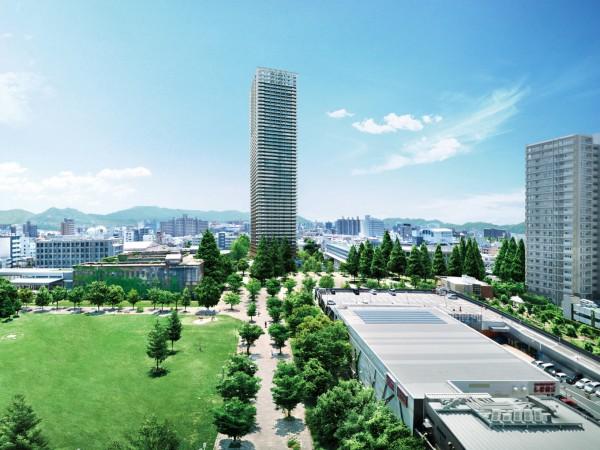広島都心近接の新しい街にシンボル的タワーが登場