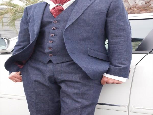 世界の名品ジーンズを手がけた「日本のデニム」のオーダースーツ