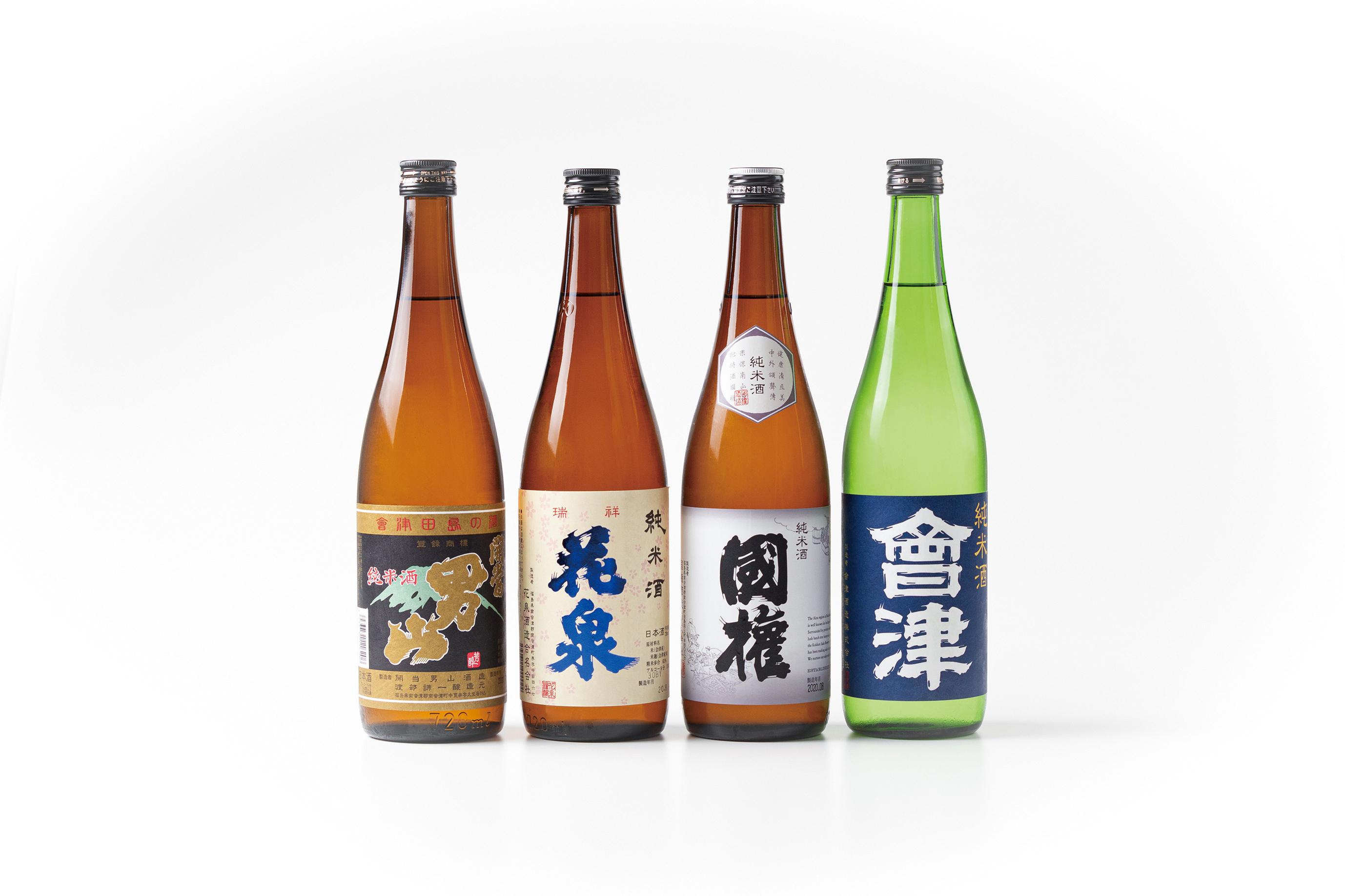 南会津町内4蔵の純米酒 4本セット×5名様