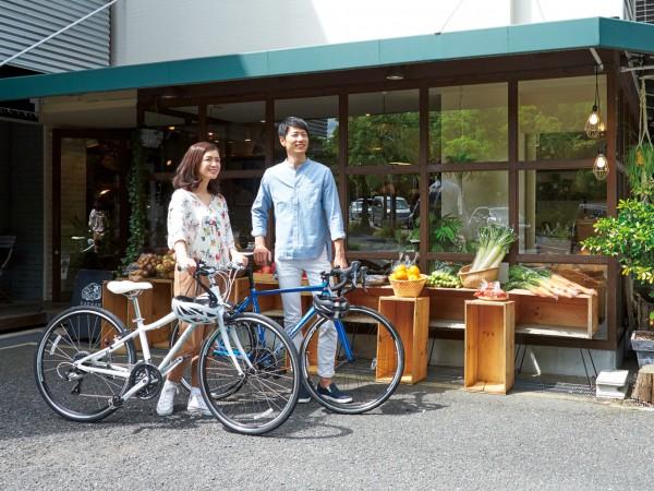 週末は夫婦で。自転車で郊外を巡る。